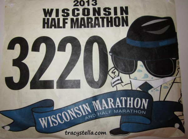 Running Bib (First Half Marathon) CAPTIONED