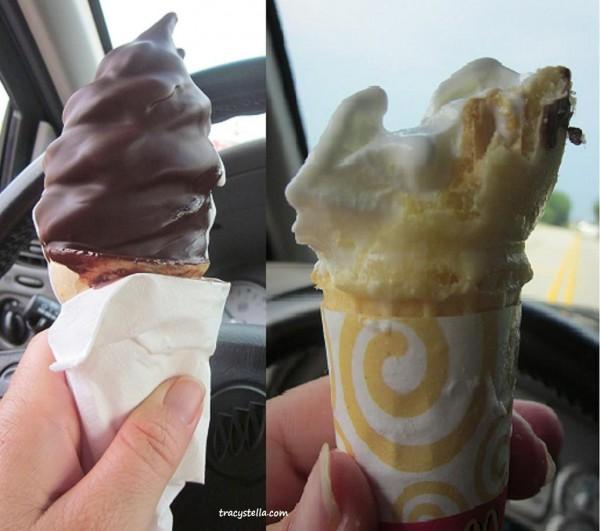 double ice cream CAPTIONED