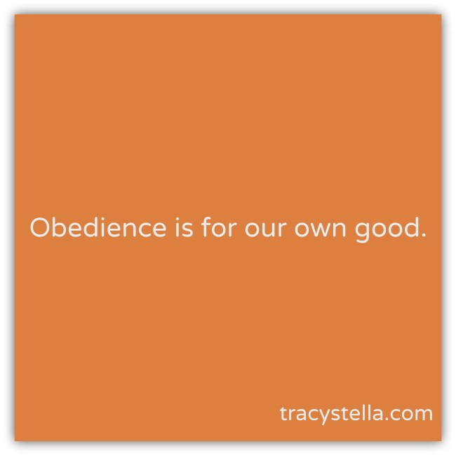 Obedience is for our own good